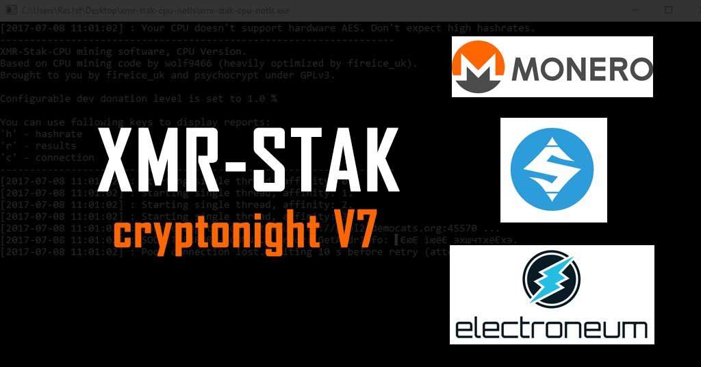 XMR-Stak 2.10.7 (AMD & Nvidia GPU Miner)