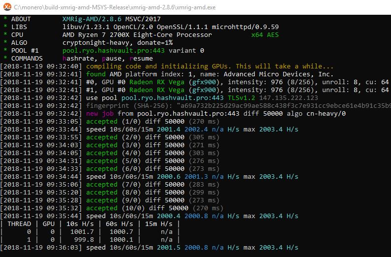 XMRig v2.14.6 (AMD GPU miner) [DOWNLOAD]
