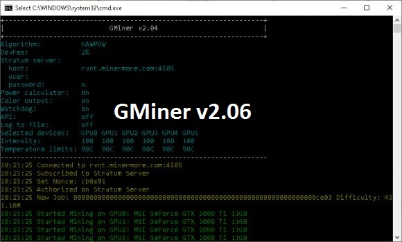 GMINER v2.06: Download with stability improvements for Qitmeer