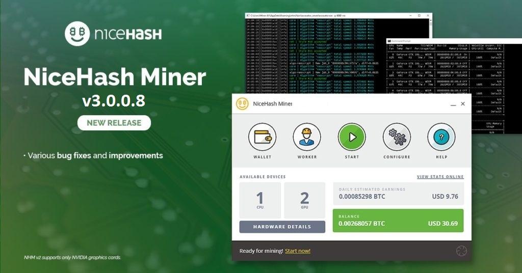 NiceHash Miner v3.0.0.8: CPU & GPU miner for Windows [DOWNLOAD]