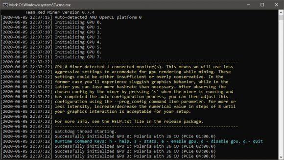 TeamRedMiner v0.7.4: Update for Kawpow and Ethash (AMD GPU 4GB VRAM)