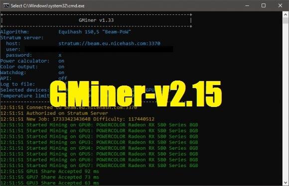 GMiner v2.15 – Добалена поддержка Cuckaroo29b (BitTube) [AMD/NVIDIA]