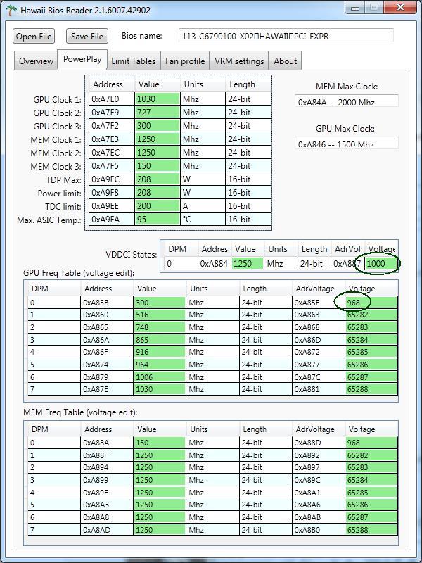 Скачать HawaiiBiosReader-v1.1 (Bios Editing 290/290X/295X2/390/390X)