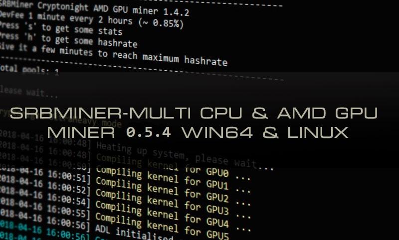 SRBMiner-MULTI AMD & CPU Miner 0.5.4 (Download for Windows & Linux)