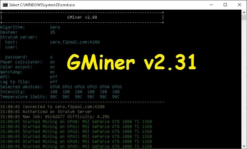 GMiner v2.31 (AMD/NVIDIA) Download for Windows/Linux