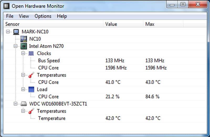 Open Hardware Monitor – программа для контроля температуры (Скачать для Windows)