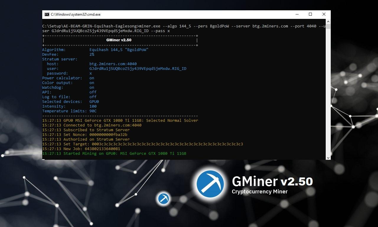 GMINER v2.50: Download AMD/NVIDIA GPU Miner for Windows/Linux 64-bit.