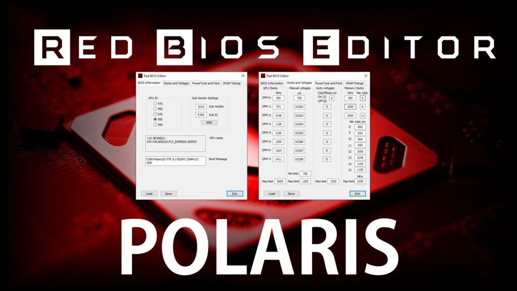 Red BIOS Editor (RBE): Скачать с поддержкой AMD Radeon RX 590/580/570/480/470.